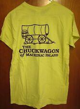 CHUCKWAGON small T shirt Mackinac Island restaurant tee Michigan western diner