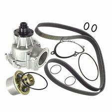 BMW E46 M-3 SALERI Water Pump +Belt +80c Thermostat +Gasket Engine Coolant Vanes