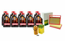 10L Motul 8100 X-MAX 0W40 Mann Filter Motor Air Oil Change Kit C215 CL600 5.5L