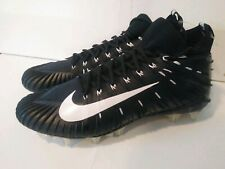 Nike Alpha Menace Elite Football Cleats Black/ White SZ 14 ( 871519-010 ) NEW!