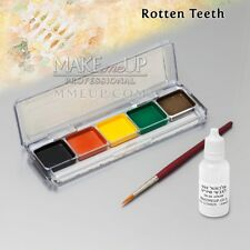 KIT ROTTEN TEETH Alcohol Activated FX Makeup black WATERPROOF tooth paint SFX