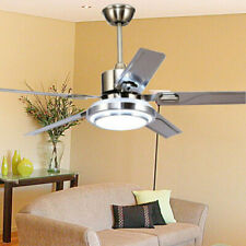 """Home Decor 52"""" Control Remote Ceiling Fan Lamp Light Stainless Steel Chandelier"""