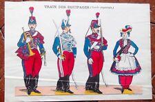 GRAVURE AU POCHOIR  DE PELLERIN  de la garde impériale de II empire