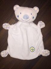 Baby Club C&A Schmusetuch Schnuffeltuch Kuscheltuch Teddybär Blau Knopf Katiert