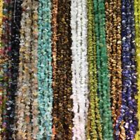 """5-8mm Natural Gemstone Chips Freeform Nugget Gravel Beads for DIY Jewelry 34"""""""