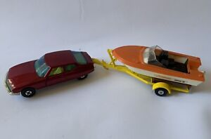 1971 Matchbox Speed Kings Citroen & 1970 K-25 Seaburst Super 70  Boat & Trailer