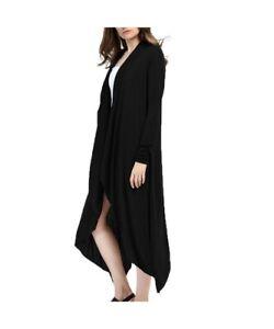 Malandrino black draped long cardigan
