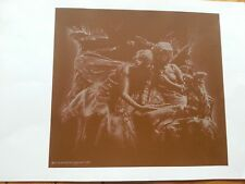 PRINT BY ALEXANDER MACKAY DATED 1981 ETCHING OF FAIRIES ANGELS MODERN ART