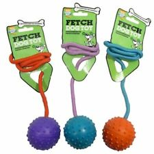 Good Boy Medium Ball On A Rope Dog Training Activity Play Fetch Outdoor Pet Toy