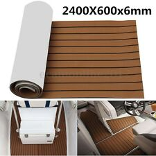 240cmx60cm 6MM Marine Flooring Faux Teak EVA Foam Boat Decking Sheet Dark Brown