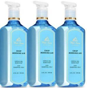 3 BATH & BODY WORKS WHITE BARN GEL HAND SOAP WASH CRISP MORNING AIR 8 OZ NEW