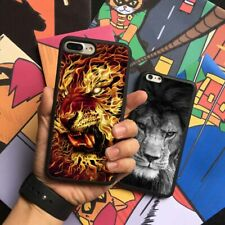 Fire Lion Wild Animals Silicone Phone Case Cover For iPhone Samsung Galaxy