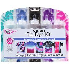 Carousel Tie Dye Craft and Activity Kit Tulip NEW tye die purple blue teal black