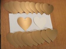 20 x Gold Heart Shape Gift Tags size 7cm