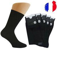 👌 lot 1à12 paire chaussettes NOIRE homme femme coton taille extensible 35 AU 46