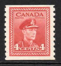Canada 4 Cent Coil Stamp c1942-48 Mounted Mint Hinged (3959)