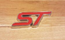 ST Trunk Red Badge Sticker Alloy Decal Fits For Ford Focus Fiesta Ka Mondeo S226