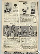 1957 PAPER AD AGM Kamplite Lantern K Fuel Propane Bernz-O-Matic Camping Camp