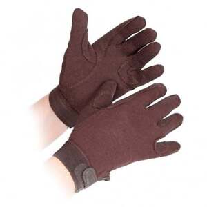 Shires Adults Newbury Horse Riding Gloves - Brown - Large