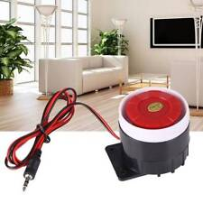DC 12V Loud Wired Mini Indoor Accessory Horn Siren Sound Home Alarm System 120dB