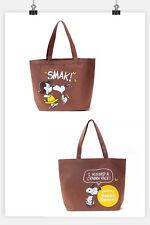 Fashion Brown Cartoon Snoopy Peanut Waterproof Large Tote Shopper Shoulder  Bag fcc50a9af7897