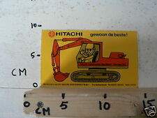 STICKER,DECAL HITACHI  CONSTRUCTION MACHINERY EUROPE BV GRAAFMACHINE