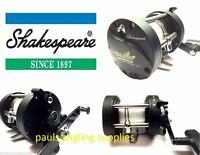 Shakespeare Firebird Multiplier RH Boat Fishing Reel for Boat Uptide Rod & Line