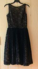 Original 1950s Vintage Black Lace Swing Party Dress