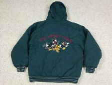 Vtg STARTER Mickey Co It's About Team Disney Mickey Mouse Football Jacket M 90s