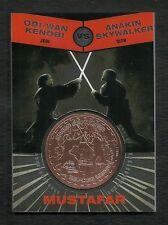 Topps Star Wars Chrome BRONZE Medallion Obi Wan Kenobi vs Anakin Skywalker