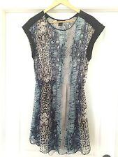 Aqua Snakeskin Print Dress Blue BNWT  Size Large