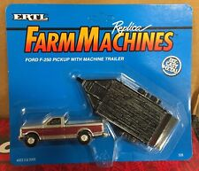 ERTL Ford F-250 Pickup With Machine Trailer 1/64 NIP