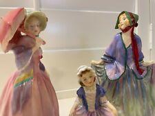 Set of 3 Royal Doulton figures, Sweet Anne Hn1318, Miss Demure Hn1402 & Dinky Do