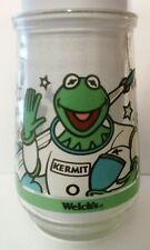 1998 KERMIT MUPPETS IN SPACE WELCHS COMPANY GLASS JAR GREAT FOR COLLECTION 1998!