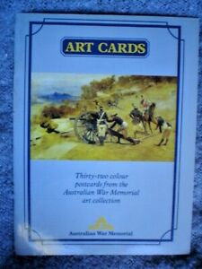 1 X AUSTRALIAN WAR MEMORIAL 32 ART POST CARDS COLLECTION ARMY SEE ALL PICS