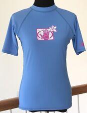 Body Glove Sz XL Womens Rash Guard Surf Swim Shirt Top UVP 50 Blue Short Sleeve