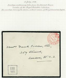 SCARCE 1936 letter from Buckingham Palace with King Edward VIII Cypher h/s