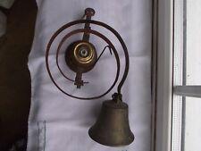 Latón Antiguo Vintage siervo's/puerta campana.
