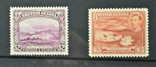 BRITISH GUIANA STAMPS 1938  $2 AND $3 H/M  (B68)