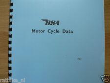 B0011 BSA---BSA MOTORCYCLE DATA  1963 TECHNICAL INFO ALL MODELS