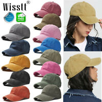 Men Women Plain Washed Style Adjustable Cotton Baseball Caps Blank Solid Casual