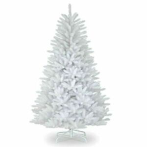 Christmas Tree - 7ft White Regal Fir Premier With Metal Stand - RRP £80