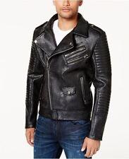 Reason Mens Faux Leather Bomber Jacket black XXL 3X