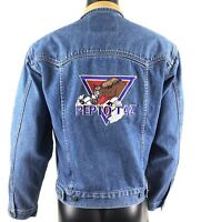 Schaefer Outfitters Mens Denim Jacket Silver Anniversary Edition PeptoTaz Small