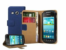 Billetera De Cuero Flip Funda Para Galaxy Xcover 2 Gt-s7710 +2 Protectores De Pantalla