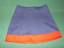 "Navy Blue & Red Cheerleader or Dance Polyester/Spandex Uniform SKIRT - 29"" Waist"