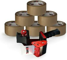 More details for tapekit heavy-duty packing tape gun dispenser with 6 strong rolls of tape