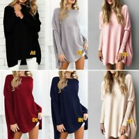 Womens Loose Long Sleeve Ladies Pullover T-shirt Casual Tops Crew Neck Blouse