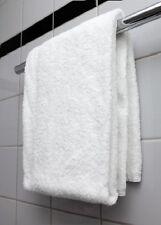 24 NEW WHITE PURE COTTON 24X48  HOTEL MOTEL BATH TOWELS HEALTH GYM TANNING SALON