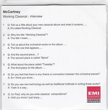 Paul McCartney - Working Classical Interview - CD (Promo)